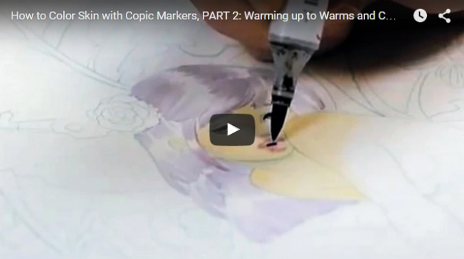 How to Color Skin with Copic Markers, Part 2: Warming up to Warms and Cools