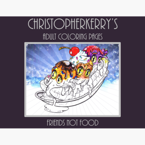 Friends not food - coloringpages