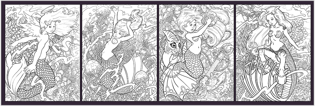 4-mermaid-coloring-pages