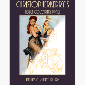 pinups and puppy dogs -coloringpages