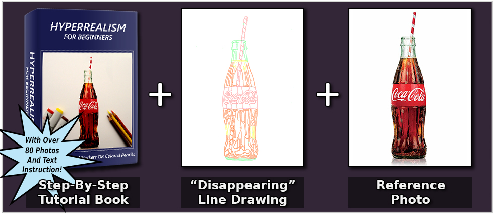 coke-bottle-book-line-drawing-and-reference-photo