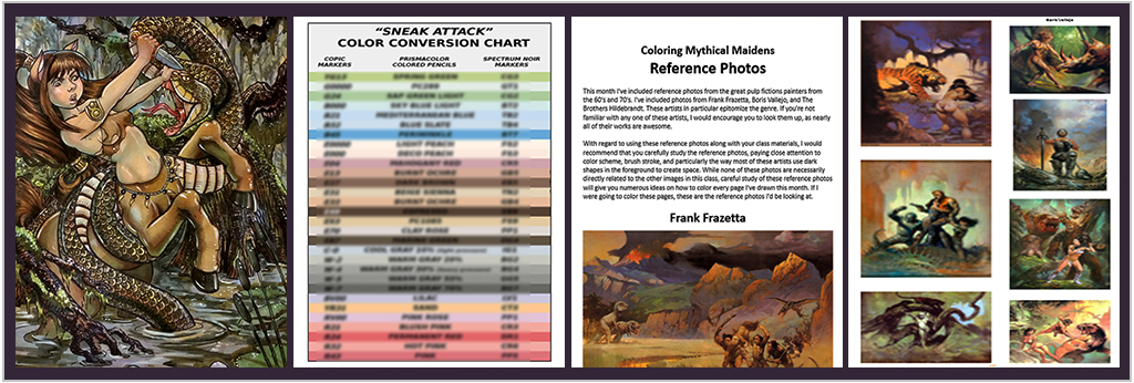 digital print conversion chart and reference photos