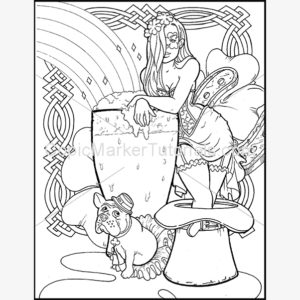 st patricks day girl coloring page